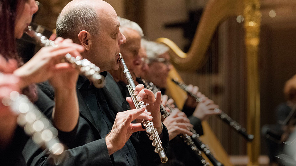 Several CSO flutists perform